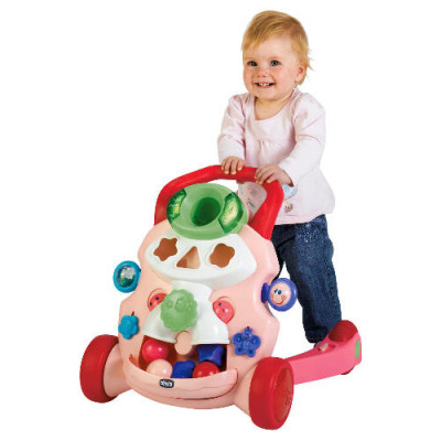 Ходунки дитячі Baby steps activity walker pink