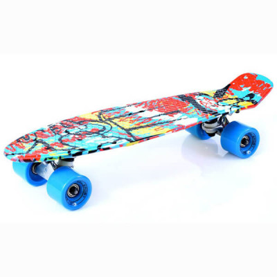 Скейт Penny Board Graffiti BS-2206 PWT